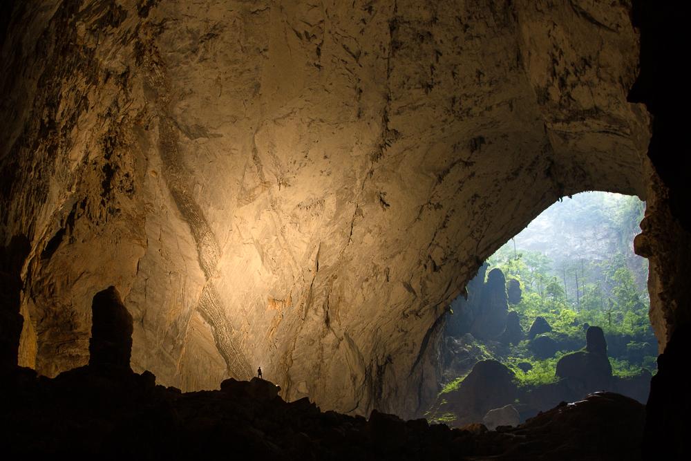 Caver in Hang Son Doong, Phong Nha Ke Bang, Vietnam